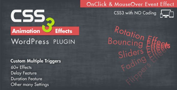 Animation CSS3 Effects Wordpress Plugin