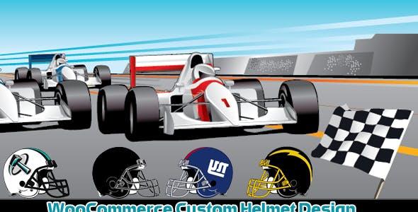 WooCommerce Custom Super Bowl Helmet Designer