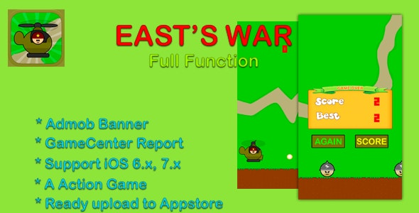 East's War - Cocos2d, Game Center, Admob - CodeCanyon Item for Sale