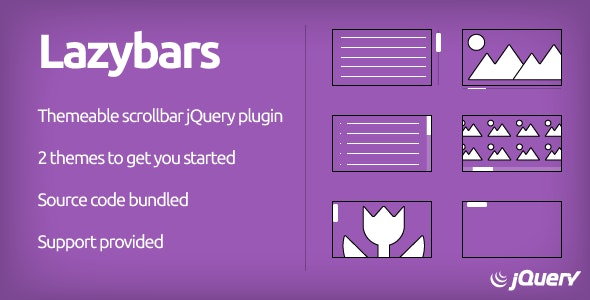 Lazybars - CSS Themeable Responsive Scrollbar jQuery Plugin - CodeCanyon Item for Sale