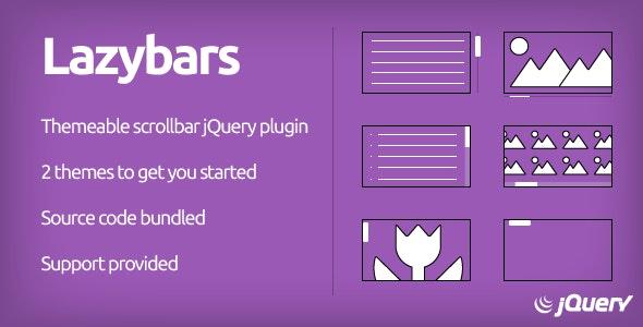 Lazybars - CSS Themeable Responsive Scrollbar jQuery Plugin