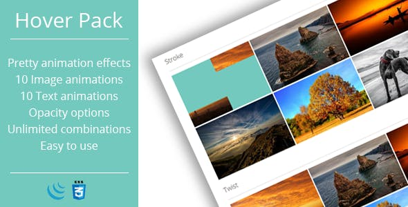Hover Effects Pack - JavaScript Plugin