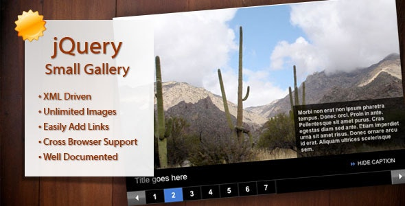 Small Photo Gallery jQuery/XML/AJAX Loaded - CodeCanyon Item for Sale