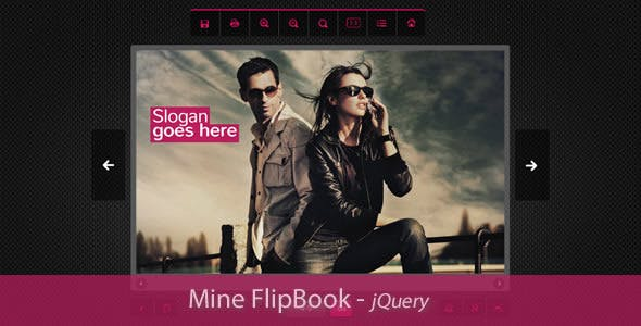 Mine Flipbook jQuery Plugin