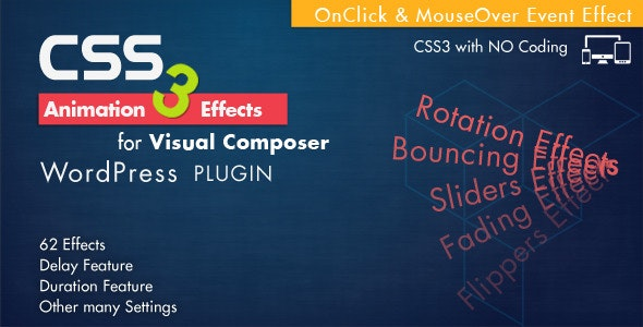 Animation CSS3 Effects - Visual Composer Wordpress - CodeCanyon Item for Sale