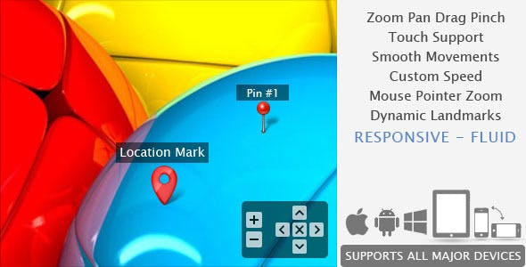 Smooth Zoom Pan - jQuery Image Viewer