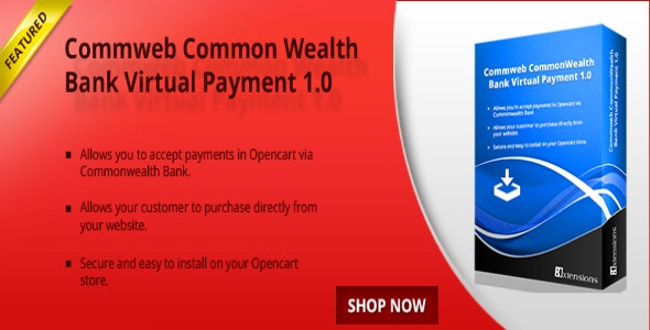 Opencart CommonWealth Bank Payment - CodeCanyon Item for Sale