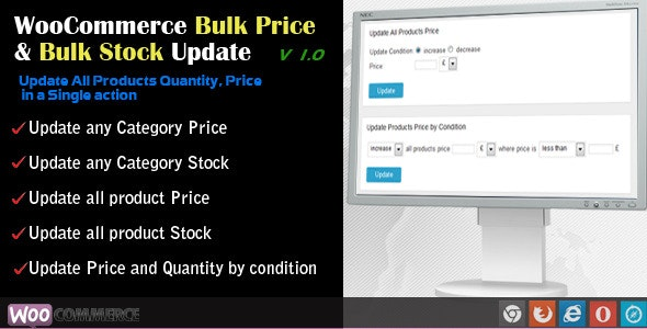 WooCommerce Bulk Price and Stock Quantity Update - CodeCanyon Item for Sale