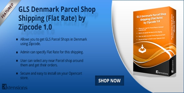 Opencart GLS Denmark Parcel Shop Shipping Flat - CodeCanyon Item for Sale