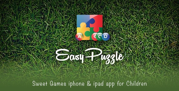 Easy Puzzle - iPhone & iPad Kids Game App - CodeCanyon Item for Sale