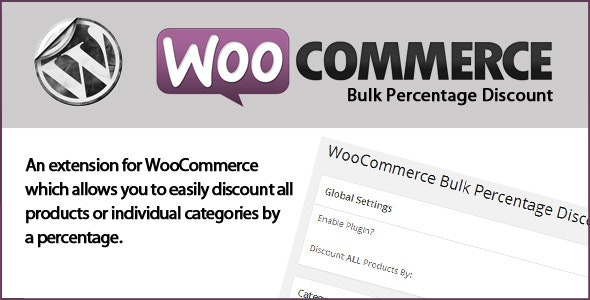 WooCommerce Bulk Percentage Discount - CodeCanyon Item for Sale