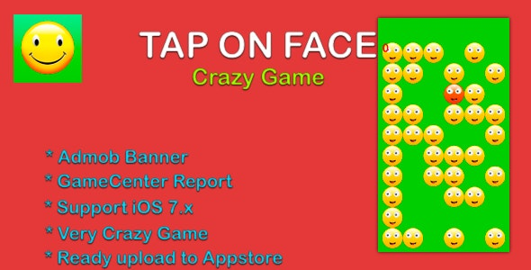 Tap On Face - Admob, GameCenter - CodeCanyon Item for Sale