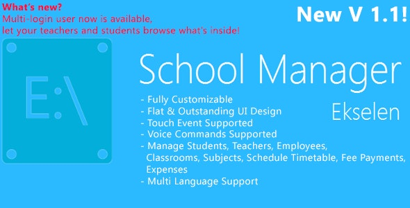 Ekselen - School Management System - CodeCanyon Item for Sale