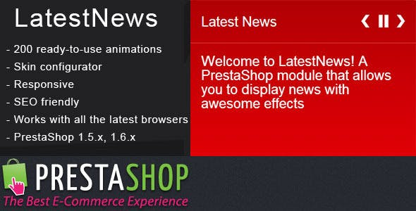 PrestaShop Latest News Module with Amazing Effects