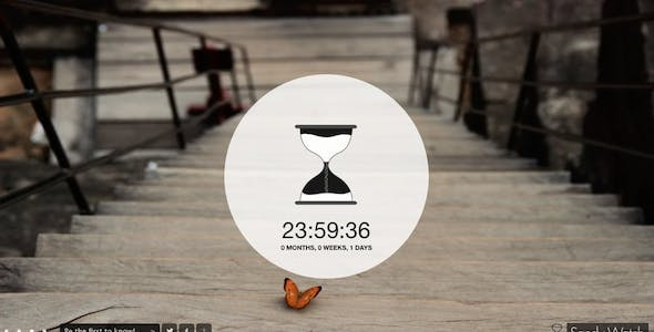 Sandywatch | Responsive HTML5 Countdown Canvas