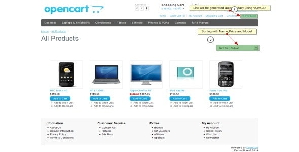 Opencart - Masonry All Products (VQMOD) - CodeCanyon Item for Sale