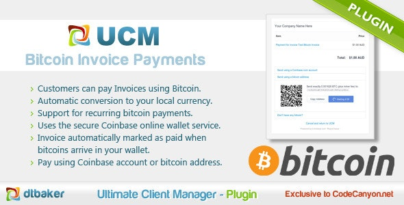 Bitcoin Payments - CodeCanyon Item for Sale