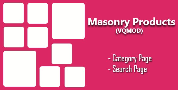 Opencart - Masonry Products for Category & Search