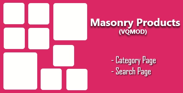 Opencart - Masonry Products for Category & Search - CodeCanyon Item for Sale