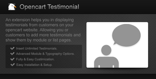 Opencart Testimonial - CodeCanyon Item for Sale