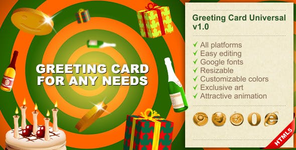 HTML5 Greeting Card Universal