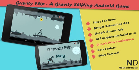 Gravity Flip - A Gravity Shifting Android Game - CodeCanyon Item for Sale