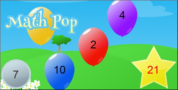 Math Pop - HTML5 Math Game - CodeCanyon Item for Sale