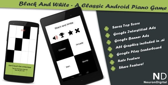 Black and White - A Classical Android Piano Game - CodeCanyon Item for Sale