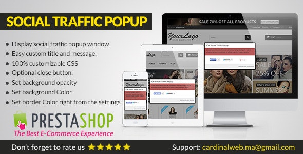 CW Social Traffic Popup for Prestashop - CodeCanyon Item for Sale