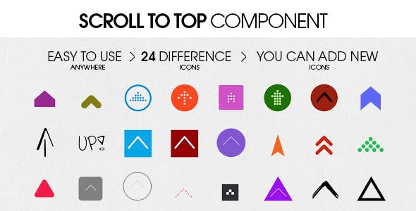 Scroll To Top Component [ 2020 Edition ]
