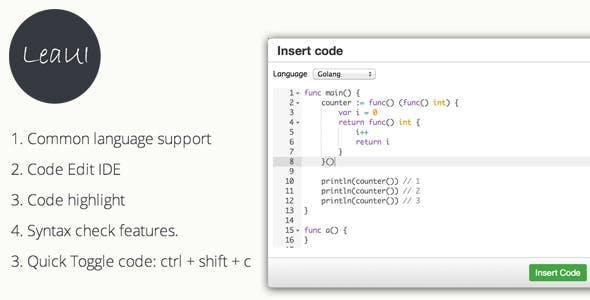 TinyMCE4 Code Editor