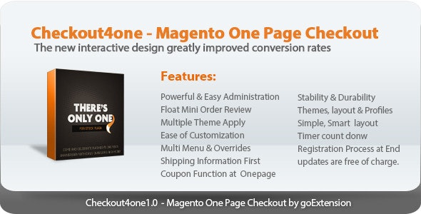 Checkout4one - Magento One Page Checkout - CodeCanyon Item for Sale