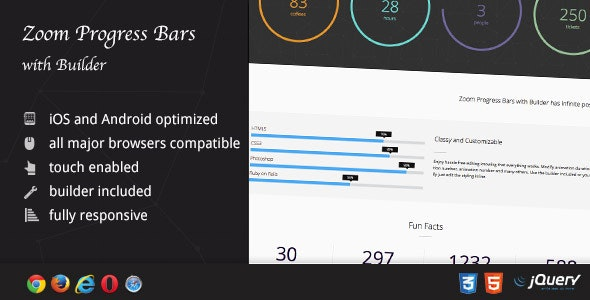 Zoom Progress Bars with Builder - CodeCanyon Item for Sale
