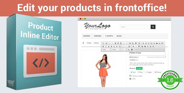 Product Inline Editor - Visual Bootstrap