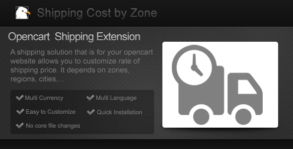Shipping Cost By Zone - CodeCanyon Item for Sale