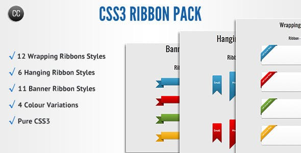 CSS3 Ribbon Pack