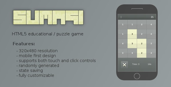 Sumagi - Educational Puzzle Game - CodeCanyon Item for Sale