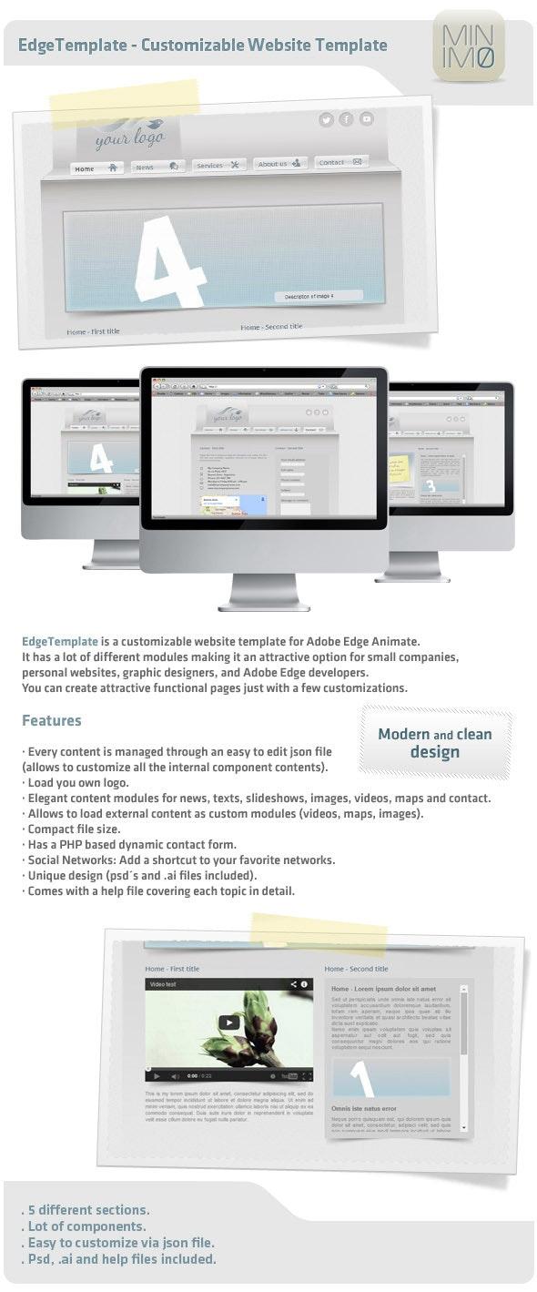 EdgeTemplate - Customizable Website Template - CodeCanyon Item for Sale
