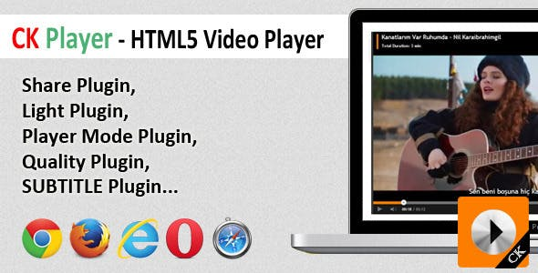 CK Player - HTML5 Video Player